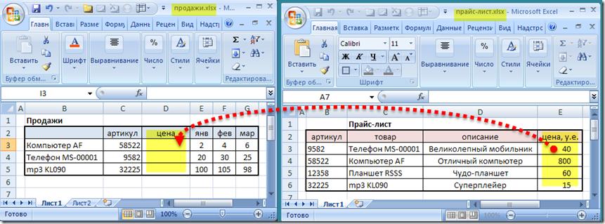 ВПР Excel